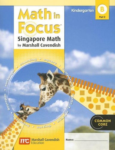 9780547625355: Math in Focus: Singapore Math, Book B Part 2 Grade K