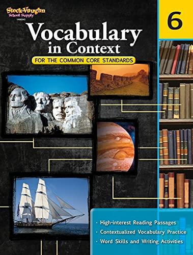 9780547625799: Vocabulary in Context for the Common Core Standards: Reproducible Grade 6