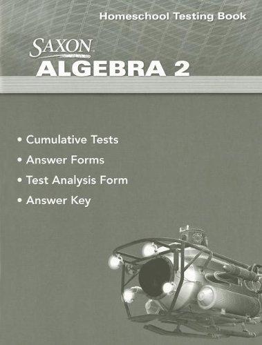9780547625850: Saxon Algebra 2 Homeschool Testing Book