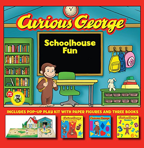 9780547643038: Curious George Schoolhouse Fun: Color Fun, Shapes, Numbers