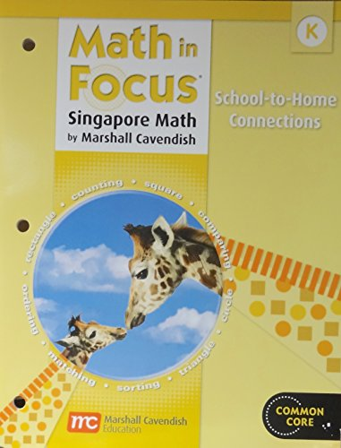 9780547647005: Math in Focus: Singapore Math: Home to School Connection Book Grade K