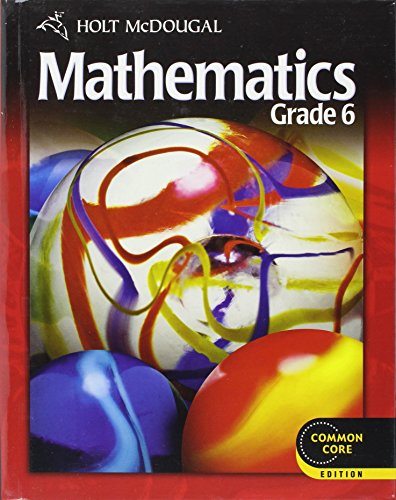 9780547647166: Holt McDougal Mathematics: Student Edition Grade 6 2012