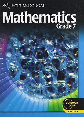 9780547647173: Holt McDougal Mathematics: Student Edition Grade 7 2012