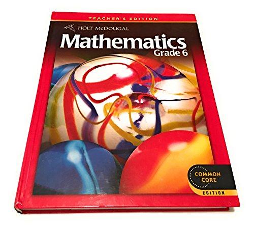 9780547647210: Holt McDougal Mathematics: Teacher's Edition Grade 6 2012