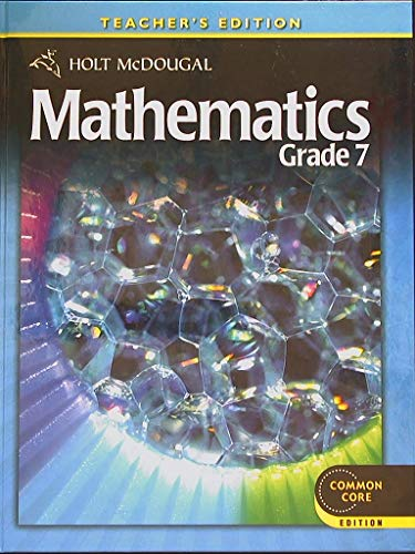 9780547647241: Mathematics Grade 7 (Holt McDougal)--Teacher's Edition--Common Core
