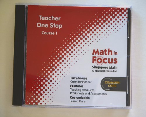 9780547677774: Math in Focus: Singapore Math Course 1: Teacher One Stop