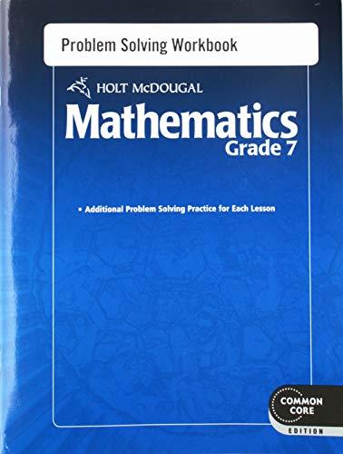 9780547686646: Holt McDougal Mathematics: Problem Solving Workbook Grade 7