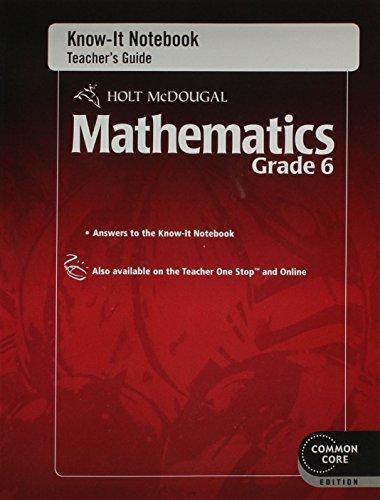 9780547687971: Holt McDougal Mathematics: Subtitle 2  Know-It Notebook Teacher's Guide Grade 6
