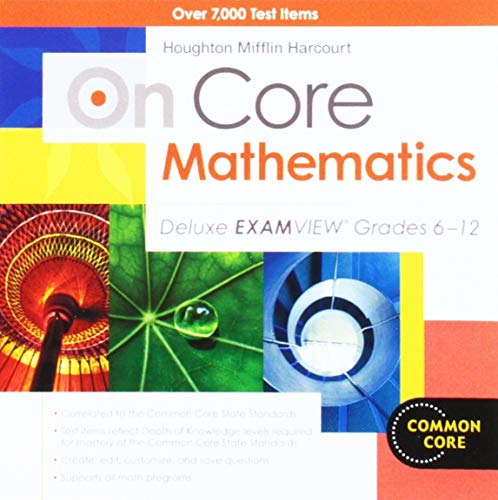 9780547688237: On Core Mathematics: Deluxe ExamView CD-ROM Grades 6-12