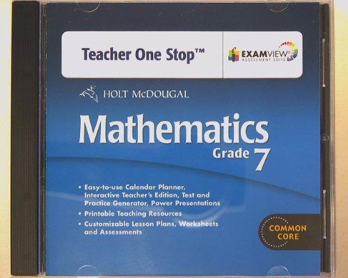 9780547688275: Holt McDougal Mathematics Teacher's One-Stop Planner DVD, Grade 7 with Examview Assessment Suite