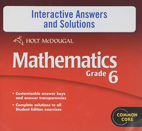 9780547688305: Holt McDougal Mathematics: Interactive