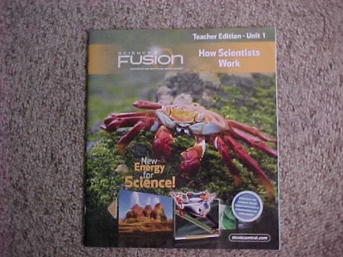 9780547696959: Houghton Mifflin Harcourt Science Fusion Teacher Edition Grade 5 Unit 1 How Scientists Work (Science Fusion)