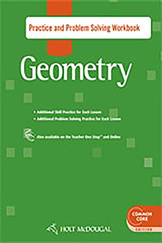 9780547710006: Holt McDougal Geometry: Practice and Problem Solving Workbook