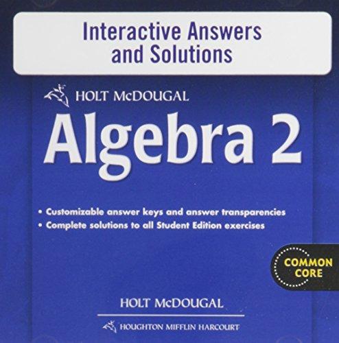 9780547710051: Holt McDougal Algebra 2: Interactive Answers