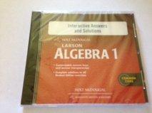 9780547710099: Holt McDougal Larson Algebra 1: Interactive Answers & Solutions CD-ROM