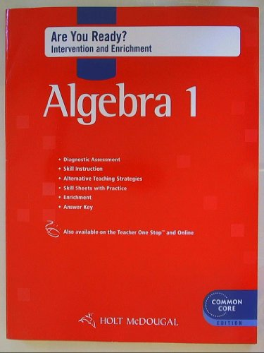 9780547710273: Holt McDougal Algebra 1: Are You Ready? Intervention & Enrichment with Answers