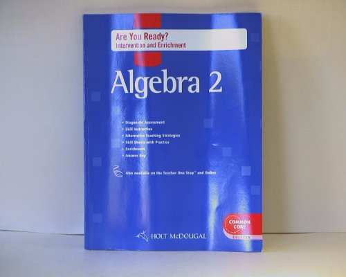 Holt McDougal Algebra 2: Are You Ready? Intervention & Enrichment with Answers: MCDOUGAL, HOLT