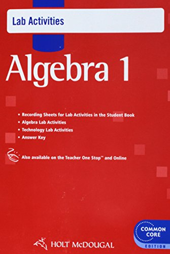 9780547710402: Holt McDougal Algebra 1: Common Core Lab Activities with Answers
