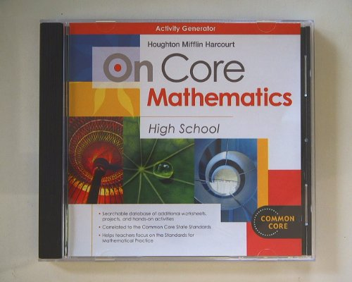 9780547712529: Houghton Mifflin Harcourt On Core Mathematics: Activity Generator CD-ROM
