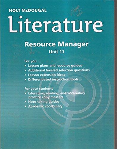 9780547724065: Holt-McDougal Literature Resource Manager Unit 11 Grade 10