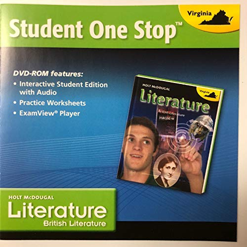 9780547729862: Holt McDougal Literature Virginia: Student One Stop DVD Grade 12 British Literature 2013