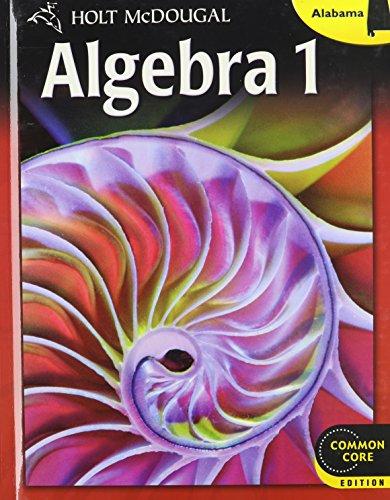 9780547734248: Holt McDougal Algebra 1 Alabama: Student Edition 2013