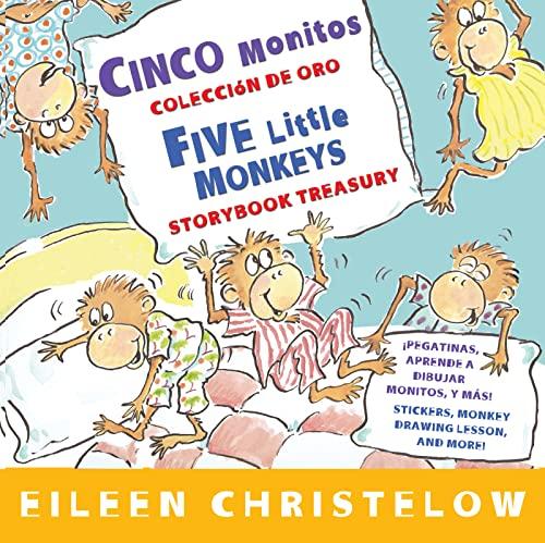 9780547745930: Cinco monitos Coleccion de oro/Five Little Monkeys Storybook Treasury (A Five Little Monkeys Story) (Spanish and English Edition)