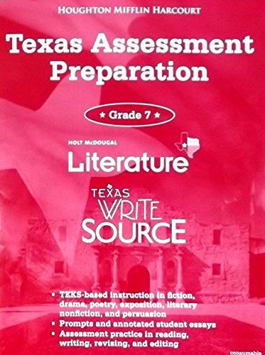 9780547749105: Texas Assessment Preparation, Literature, Texas Write Source, Grade 7 (Great Source Write Source)