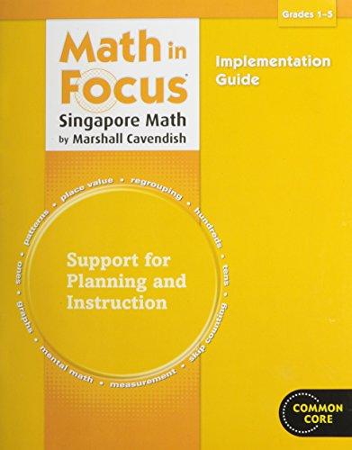 9780547816418: Math in Focus: Singapore Math Implementation Guide Grades 1-5