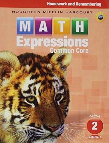 9780547824215: Math Expressions: Homework & Remembering, Volume 1 Grade 2