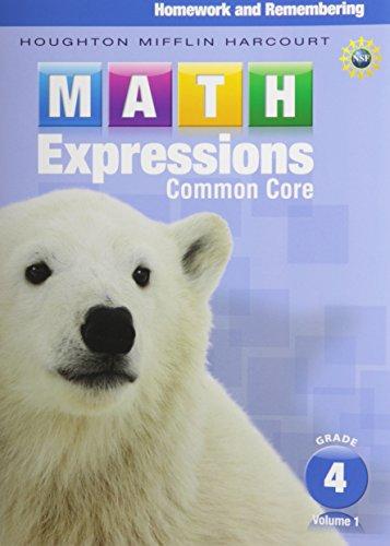 9780547824246: Math Expressions: Homework & Remembering, Grade 4, Vol. 1