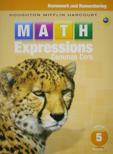 9780547824253: Math Expressions: Homework & Remembering, Volume 1 Grade 5