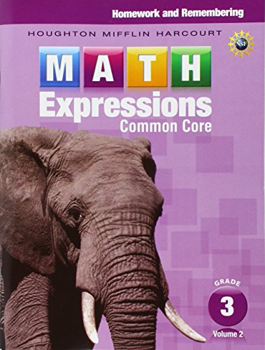 9780547824314: Math Expressions: Homework & Remembering, Volume 2 Grade 3