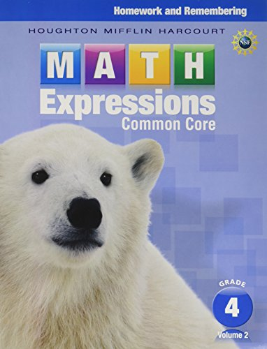 9780547824321: Math Expressions: Homework & Remembering, Volume 2 Grade 4