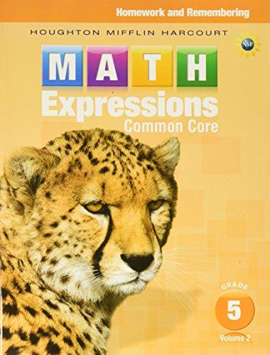 9780547824338: Math Expressions: Homework & Remembering, Volume 2 Grade 5