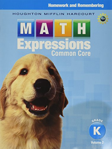 9780547824352: Math Expressions: Homework & Remembering, Volume 2 Grade K