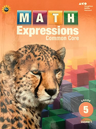 9780547824383: Math Expressions: Student Activity Book, Volume 1 (Hardcover) Grade 5