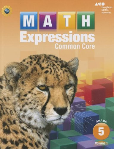 9780547824482: Houghton Mifflin Harcourt Math Expressions: Student Activity Book, Volume 1 (Softcover) Grade 5