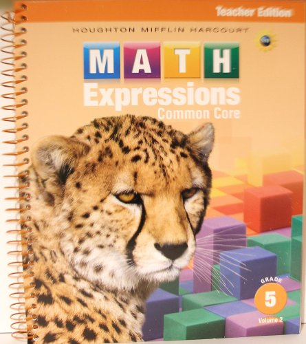 9780547824918: Math Expressions: Teacher Edition, Volume 2 Grade 5 2013