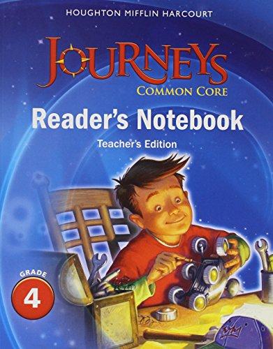 9780547860756: Journeys: Common Core Reader's Notebook Teachers Edition Grade 4