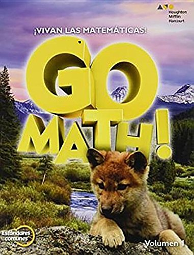 9780547867106: Houghton Mifflin Harcourt Go Math! Spanish: Student Edition & Practice Book Bundle Grade 1 2012