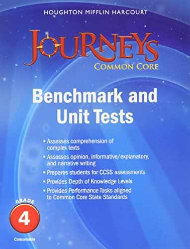 9780547871615: Journeys: Benchmark Tests and Unit Tests Consumable Grade 4 Grade 4