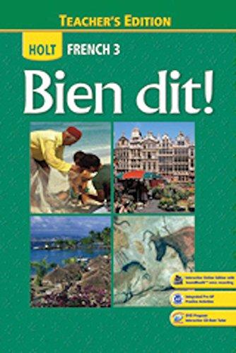 9780547871714: Bien Dit!: Teacher Edition Level 3 2013