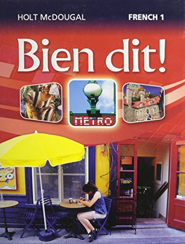 Bien dit!: Student Edition Level 1 2013 (French Edition): HOLT MCDOUGAL
