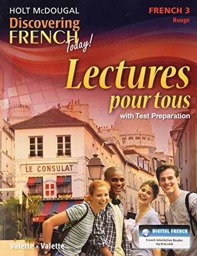 9780547871981: Discovering French Today: Lectures pour tous Student Edition Level 3