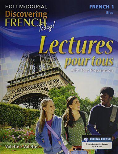 9780547872582: Discovering French Today: Lectures pour tous Student Edition Workbook Level 1 (French Edition)