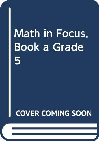 9780547875040: Math in Focus: Singapore Math, Spanish: Student Edition Grade 5 Book A 2013