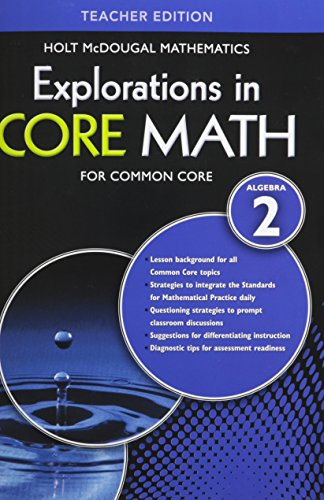 9780547876160 Explorations In Core Math Common Core Teacher