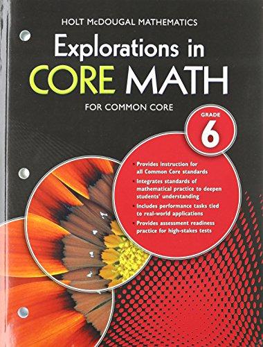 9780547876634: Explorations in Core Math: Common Core Student Edition Grade 6 2014