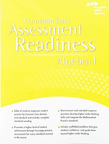 9780547881263: Common Core Assessment Readiness Algebra 1 Houghton Mifflin Harcourt (Holt McDougal Algebra 1)